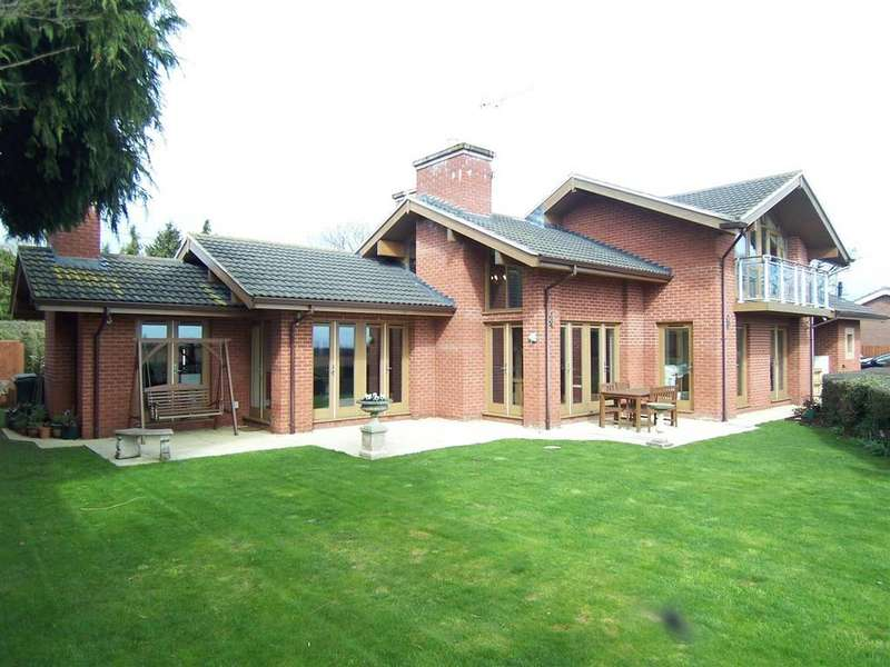 4 Bedrooms Detached House for sale in Meadow Rise, Wem Road, Harmer Hill, Shrewsbury, SY4 3EA