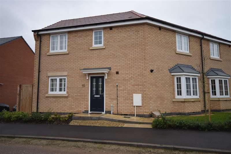 3 Bedrooms Semi Detached House for sale in Barrowcliff Way, Blaby, Leicester, LE8 4BH