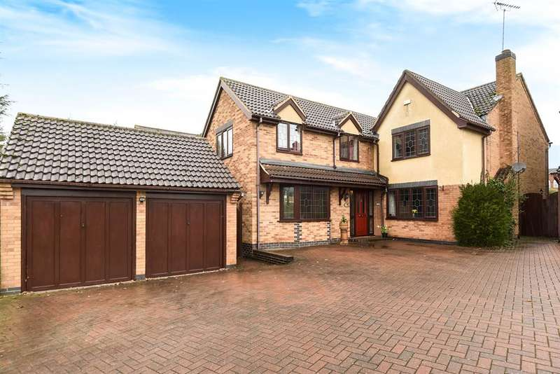 5 Bedrooms Detached House for sale in Bodicoat Close, Whetstone, Leicester, LE8 6ZN