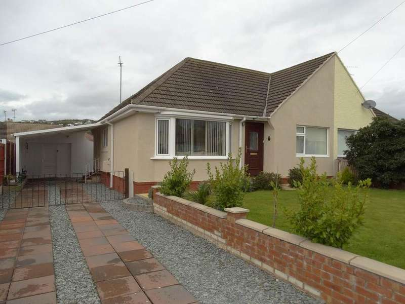 2 Bedrooms Semi Detached Bungalow for sale in 5 Church Close, Penrhyn Bay, LL30 3LR