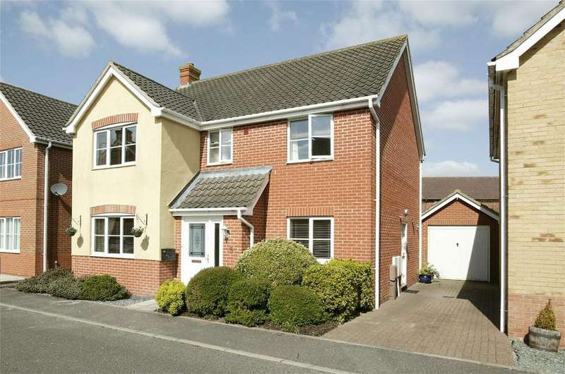 4 Bedrooms Detached House for sale in Balmoral Close, Attleborough, Norfolk