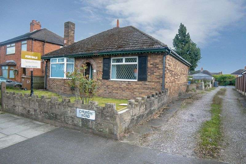 2 Bedrooms Detached Bungalow for sale in Church Road, Blurton, Stoke-On-Trent, Staffordshire, ST3 3BD