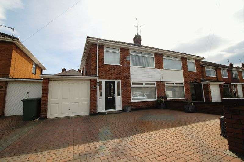 3 Bedrooms Semi Detached House for sale in Ambleside Close, Bromborough, Wirral