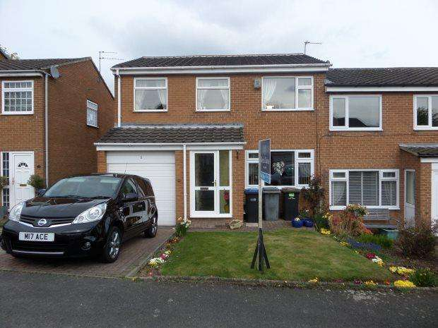 4 Bedrooms Semi Detached House for sale in CAMBERLEY DRIVE, BRANDON, DURHAM CITY : VILLAGES WEST OF