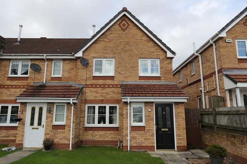 3 Bedrooms End Of Terrace House for sale in 49 Sandywarps, Irlam