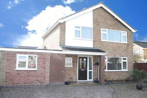 4 Bedrooms Link Detached House for sale in Laburnum Avenue, Lutterworth, LE17