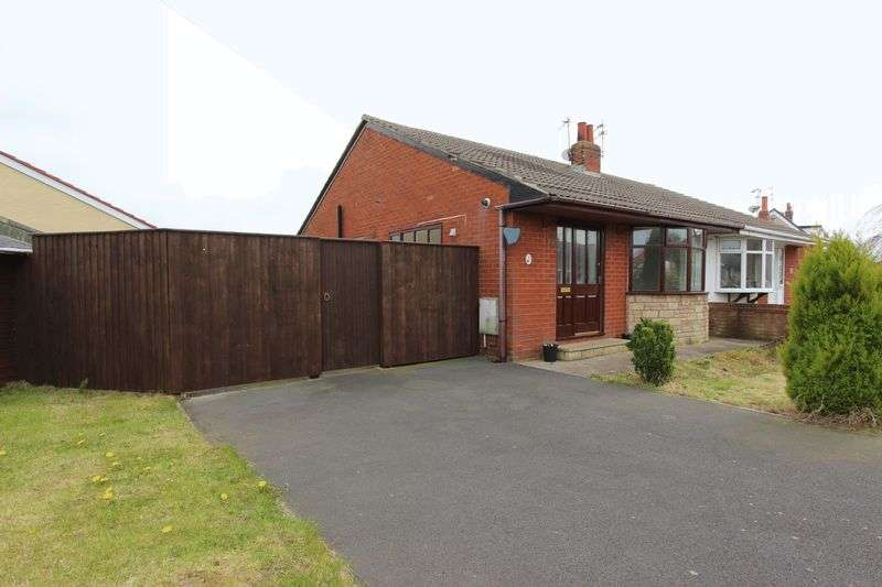 2 Bedrooms Semi Detached Bungalow for sale in 52 Meadow Avenue, Poulton-Le-Fylde, Lancs FY6 0HA