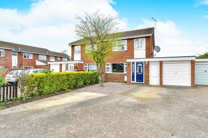3 Bedrooms Semi Detached House for sale in Squires Road, Marston Moretaine, Bedford, Bedfordshire