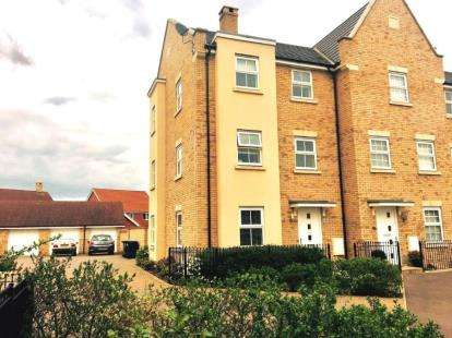4 Bedrooms Terraced House for sale in Buttercup Avenue, Eynesbury, St. Neots, Cambridgeshire