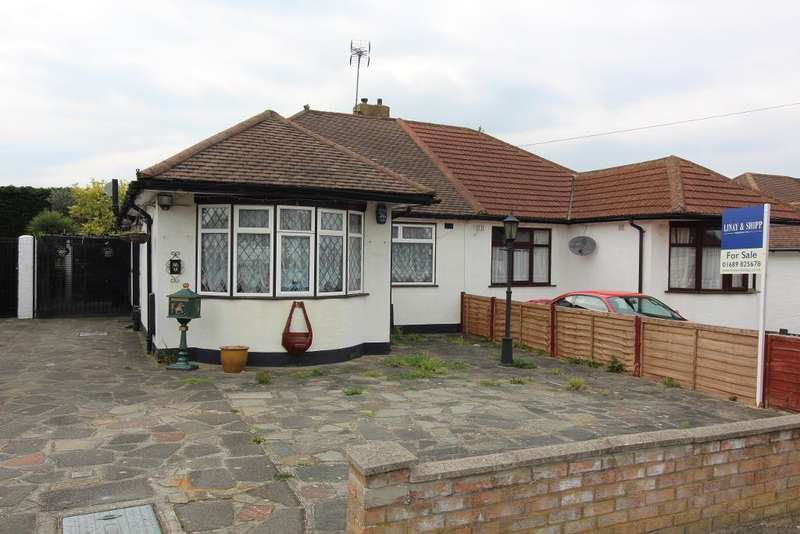 2 Bedrooms Semi Detached Bungalow for sale in Bedford Road, Orpington, Kent, BR6 0QH
