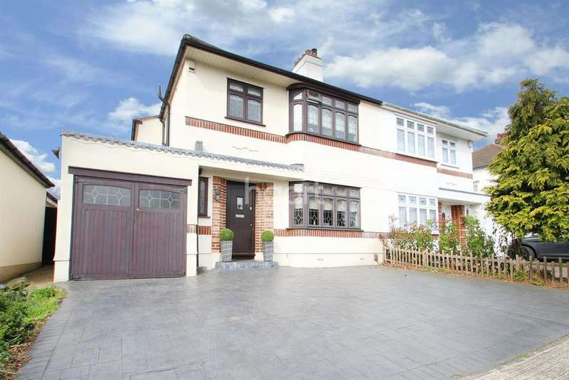3 Bedrooms Semi Detached House for sale in Roslyn Gardens, Gidea Park
