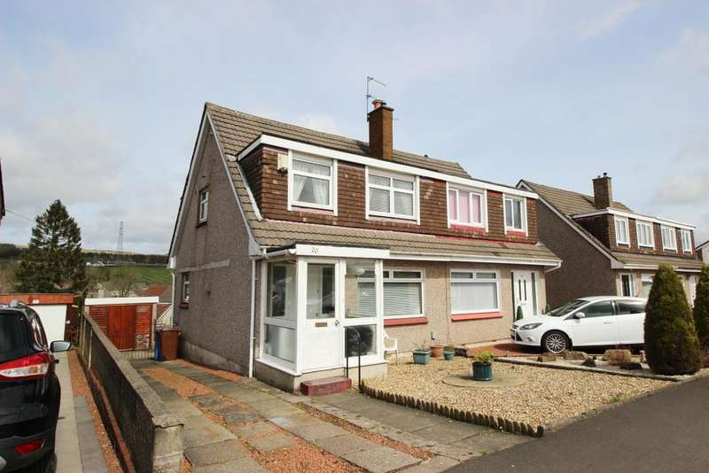 3 Bedrooms Semi Detached House for sale in 20 Braehead Road, Hardgate, G81 6PQ