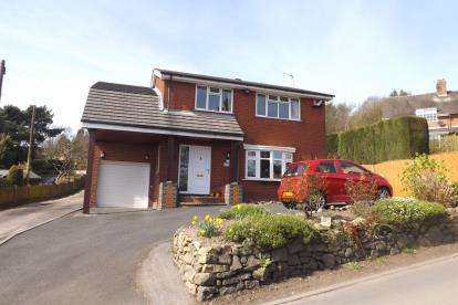 4 Bedrooms Detached House for sale in Mow Cop Road, Mow Cop, Stafforshire, Cheshire Border