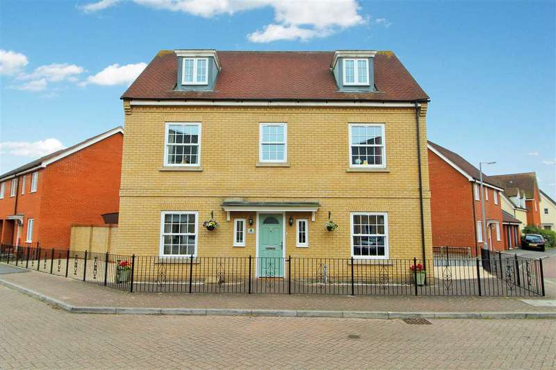 5 Bedrooms Town House for sale in Carus Crescent, Highwoods, Colchester