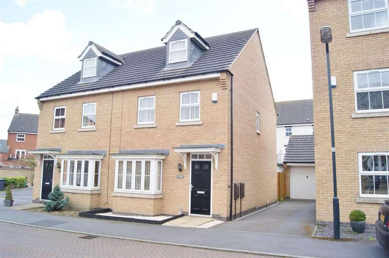 3 Bedrooms Semi Detached House for sale in Spellow Close, Rugby
