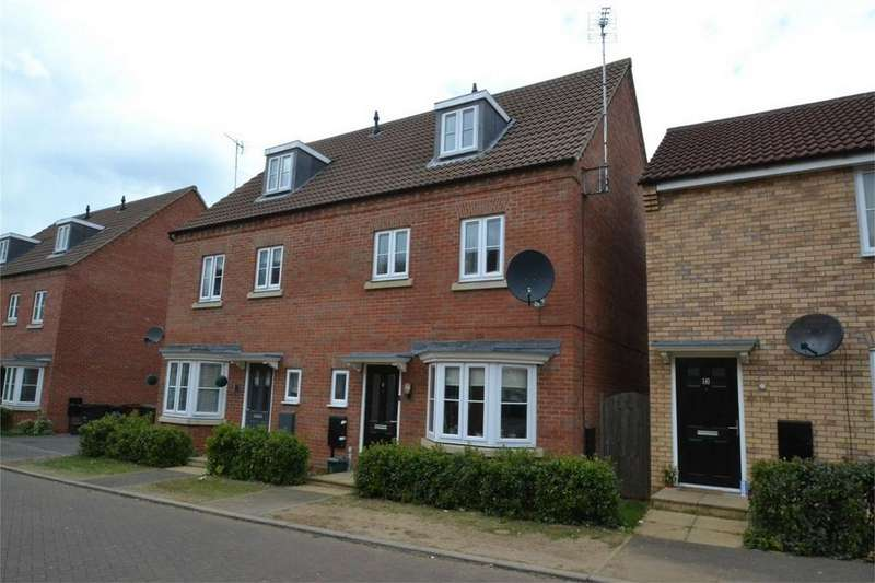 4 Bedrooms Town House for sale in Dewar Close, Corby, Northamptonshire