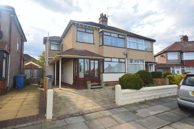 3 Bedrooms Semi Detached House for sale in North Linkside Road, Woolton