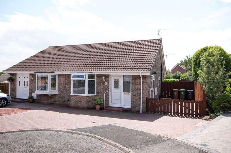 2 Bedrooms Semi Detached Bungalow for sale in Plover Close, Washington, NE38