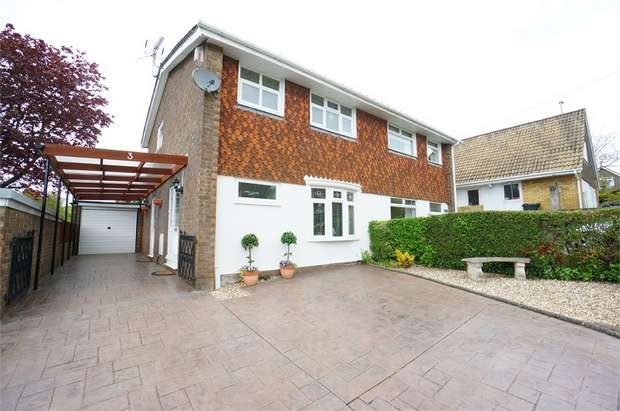 3 Bedrooms Semi Detached House for sale in Waterside Close, Rogerstone, NEWPORT
