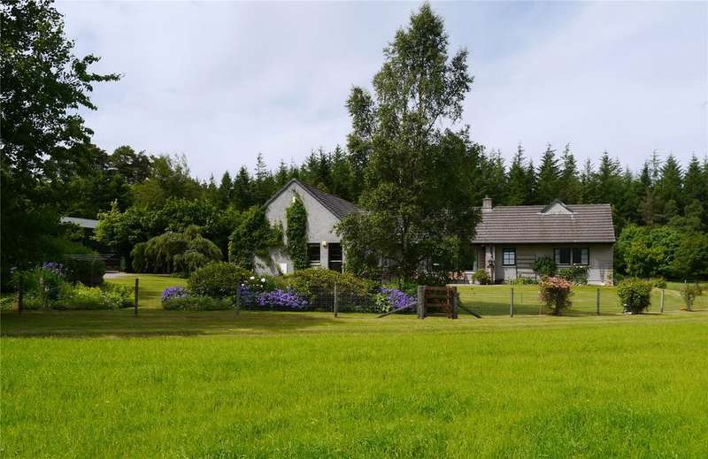 4 Bedrooms Detached Bungalow for sale in Woodend House, Carron, Aberlour, Moray, AB38