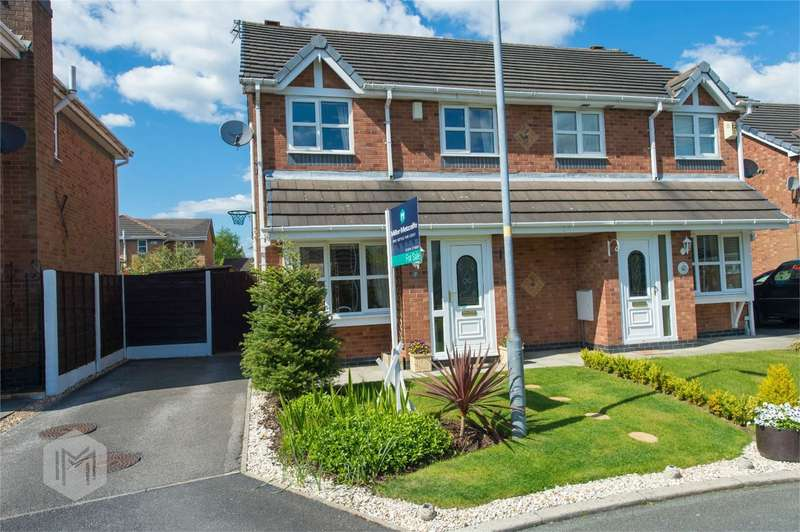 3 Bedrooms Semi Detached House for sale in Cloughbank, Radcliffe, Manchester, Lancashire