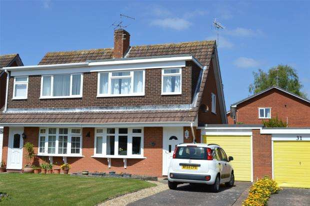 3 Bedrooms Semi Detached House for sale in Fleming Avenue, Sidmouth, Devon