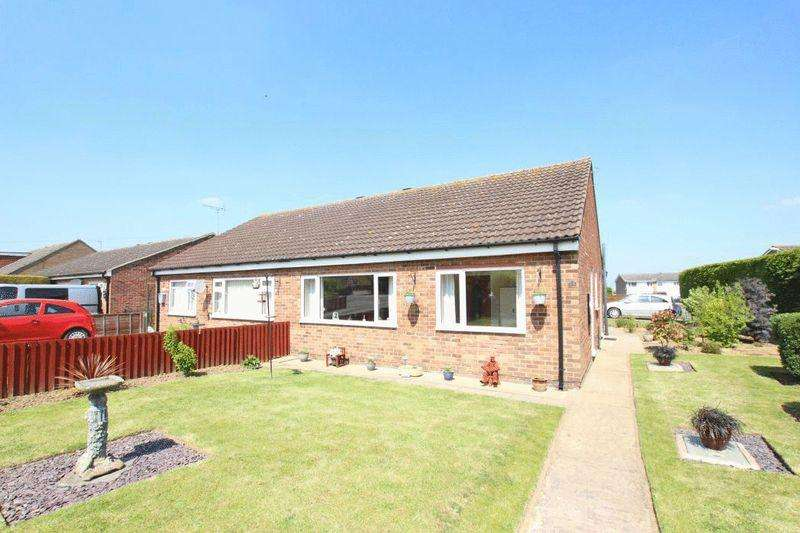 2 Bedrooms Semi Detached Bungalow for sale in STATION ROAD, ULCEBY