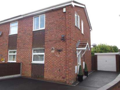 2 Bedrooms Semi Detached House for sale in Chestnut Close, Kingsbury, Tamworth, Staffordshire