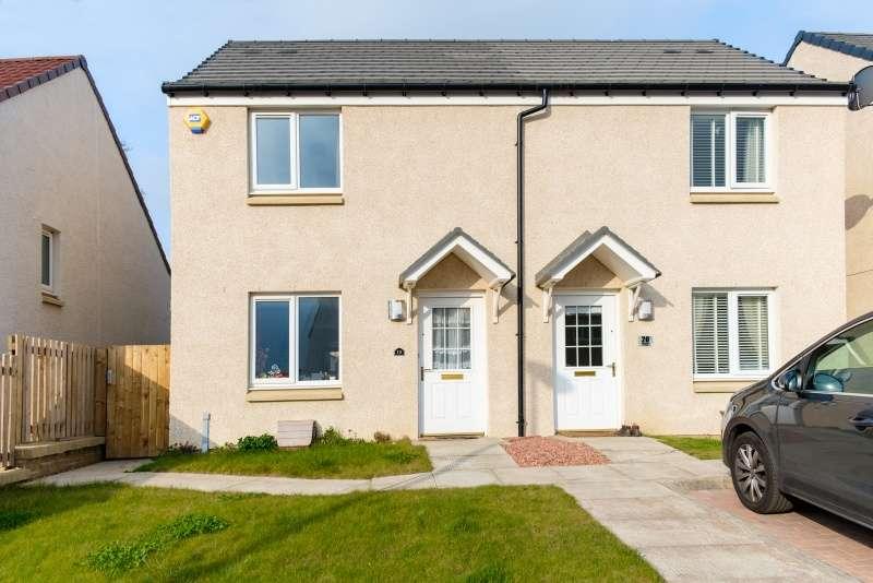 2 Bedrooms Semi-detached Villa House for sale in Whitehouse Crescent, Gorebridge, Midlothian, EH23 4FT