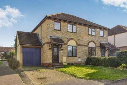 3 Bedrooms Semi Detached House for sale in Groundsel Close, Walnut Tree, Milton Keynes, Buckinghamshire