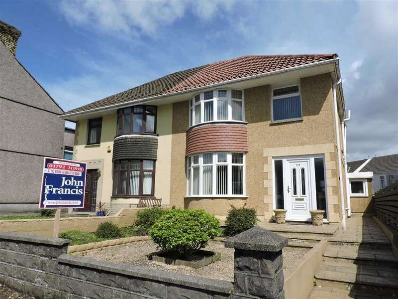 3 Bedrooms Semi Detached House for sale in Llangyfelach Road, Treboeth