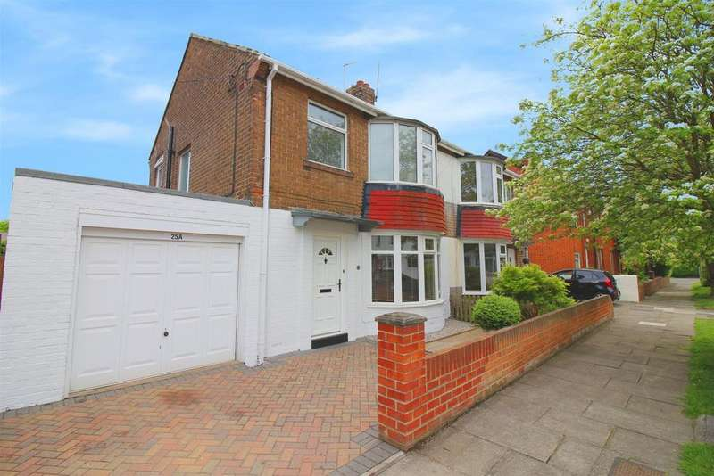 3 Bedrooms Semi Detached House for sale in Wellington Avenue, Wellfield, Whitley Bay