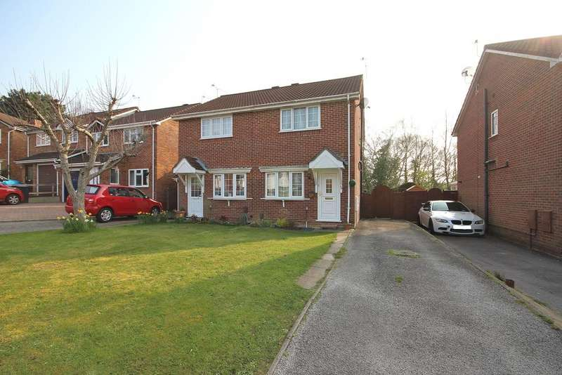 2 Bedrooms Semi Detached House for sale in Chaffinch Close, Creekmoor, Poole