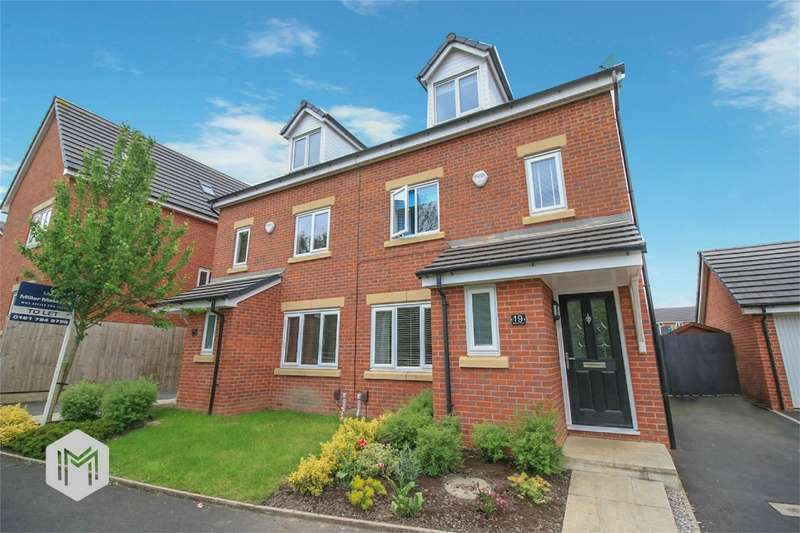 4 Bedrooms Semi Detached House for sale in Spinners Drive, Worsley, Manchester