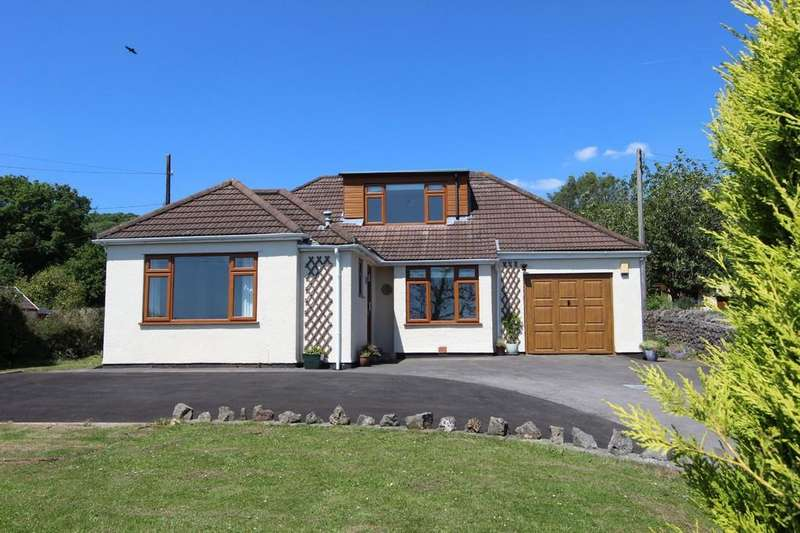 4 Bedrooms Detached House for sale in Set back postion with great views in Tickenham