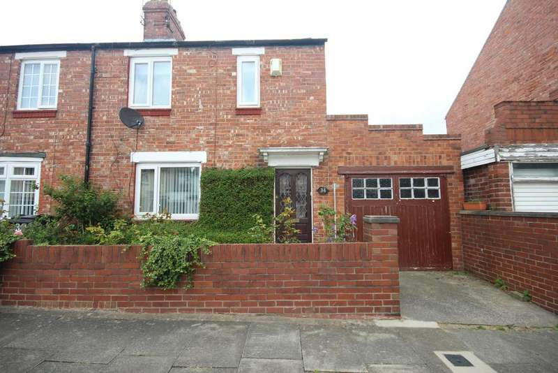 2 Bedrooms Semi Detached House for sale in Wellington Avenue, Wellfield, Whitley Bay, NE25