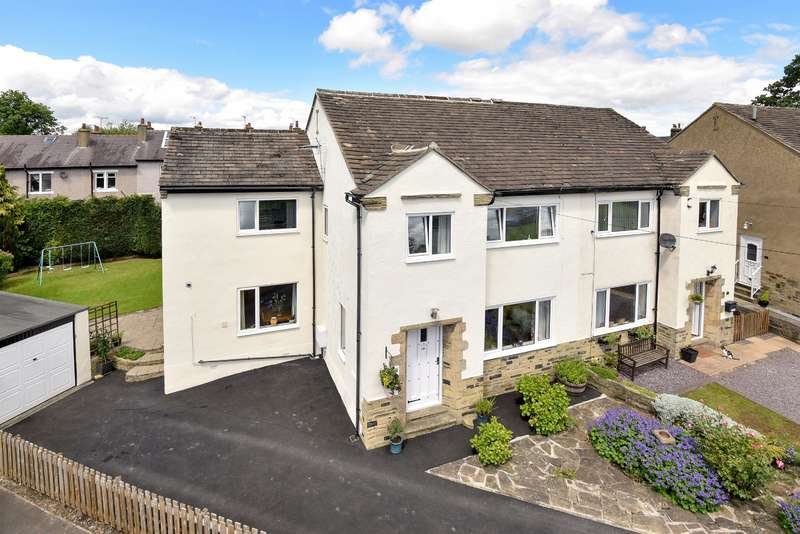 4 Bedrooms Semi Detached House for sale in Tranfield Close, Guiseley, Leeds, LS20 8LT
