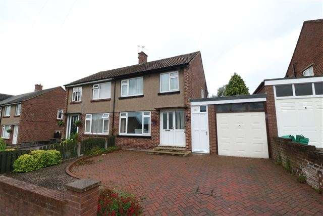 3 Bedrooms Semi Detached House for sale in Hopes Hill Drive, Carlisle, Cumbria, CA1 3LD