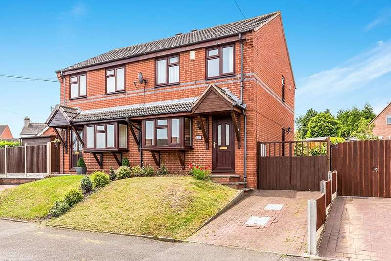 3 Bedrooms Semi Detached House for sale in Birch Avenue, Newhall, Swadlincote, DE11