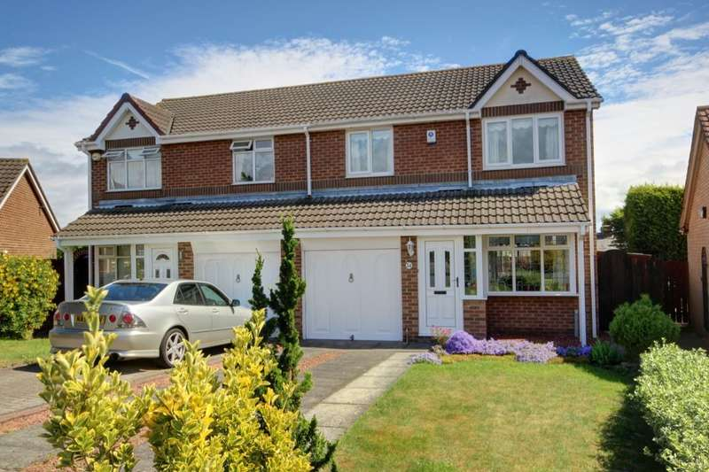 3 Bedrooms Semi Detached House for sale in Baulkham Hills, Penshaw, Houghton Le Spring, DH4