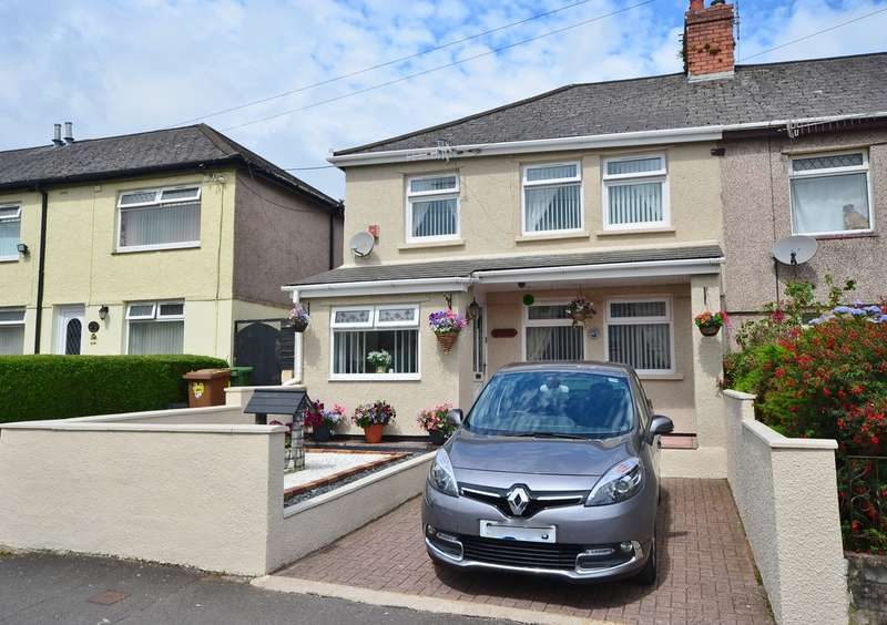 3 Bedrooms Semi Detached House for sale in First Avenue, Caerphilly, CF83
