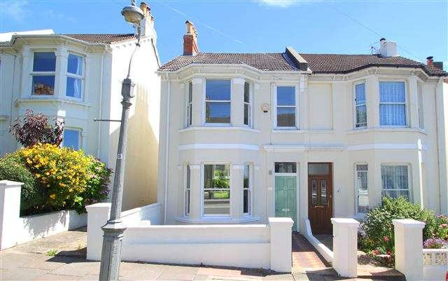 3 Bedrooms Semi Detached House for sale in Havelock Road, Brighton, BN1 6GF