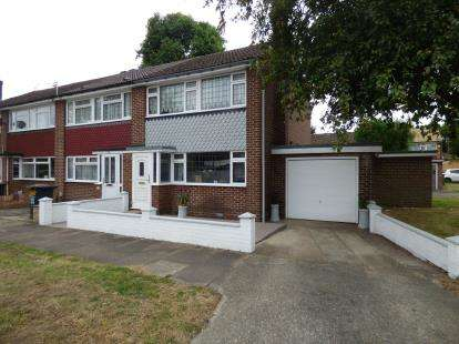 3 Bedrooms End Of Terrace House for sale in Hobbs Close, Cheshunt, Waltham Cross, Hertfordshire