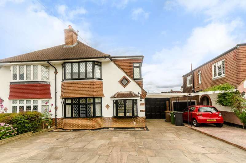 3 Bedrooms Semi Detached House for sale in Edenfield Gardens, Worcester Park, KT4