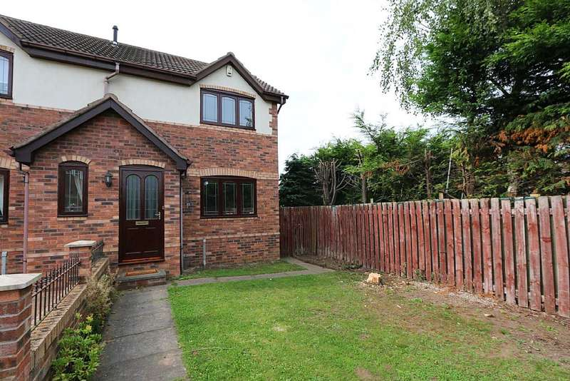 2 Bedrooms Semi Detached House for sale in 48, Church Meadow Road, Rossington, Doncaster, South Yorkshire, DN11 0YD