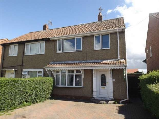 3 Bedrooms Semi Detached House for sale in Canterbury Crescent, Willington, Crook, Durham