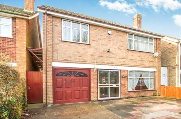 4 Bedrooms Detached House for sale in Gifford Close, Leicester, LE5