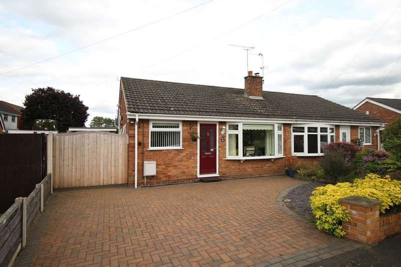 2 Bedrooms Semi Detached Bungalow for sale in Sandiford Road, Holmes Chapel, Crewe, CW4