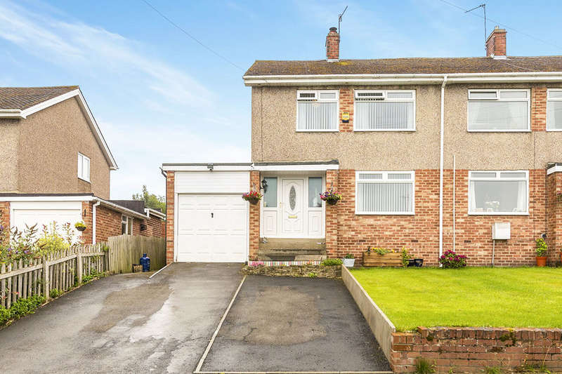 3 Bedrooms Semi Detached House for sale in Pleasant View, Bridgehill, Consett, DH8