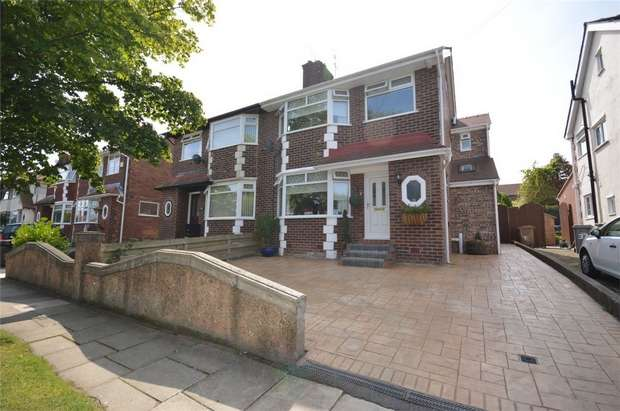 3 Bedrooms Semi Detached House for sale in Kingsville Road, Bebington, Merseyside